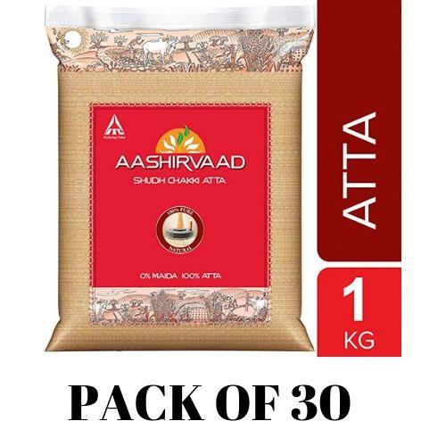 AASHIRVAAD ATTA 1KG (PACK OF 30)